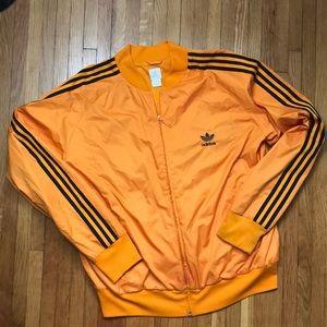Vintage men's orange Adidas bomber jacket XL